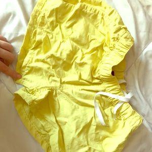 Yellow patagonia shorts!